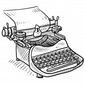 maquina de escribir dibujo